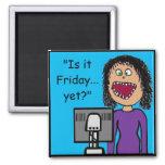 Humor administrativo de la oficina del dibujo anim imán de frigorífico