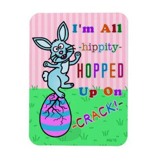 Humor agrietado divertido del huevo del conejito iman flexible