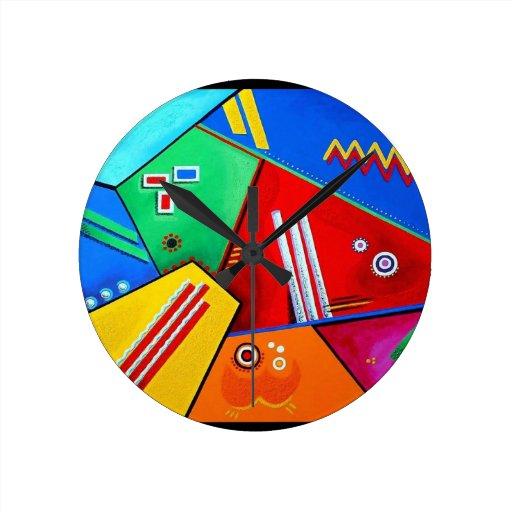 Humor alegre - ilustraciones de Galina - Reloj Redondo Mediano