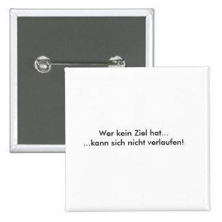 Humor alemán del texto chapa cuadrada 5 cm