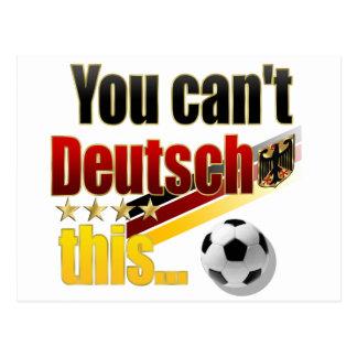 Humor alemán divertido de Deutsch Lustig Fussball Postal