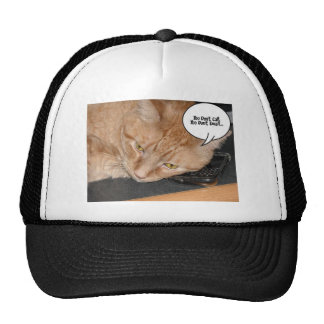Humor anaranjado del gato de Tabby Gorras De Camionero