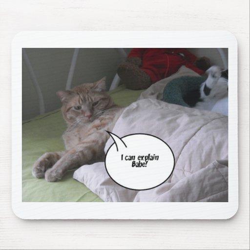 Humor anaranjado del gato de Tabby Tapete De Raton