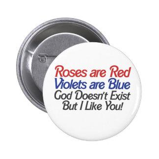 Humor ateo divertido del día de San Valentín Pin Redondo 5 Cm