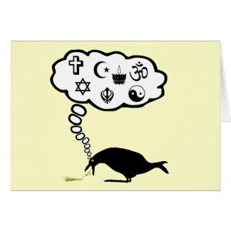 Humor ateo tarjeta de felicitación