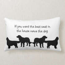 Humor Best Seat in house Dog Pet Animal Lumbar Pillow