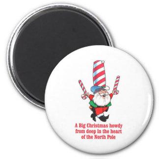HUMOR Big Christmas Howdy Holiday Greeting Refrigerator Magnets