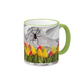 Humor:  Black Widow Ringer Mug