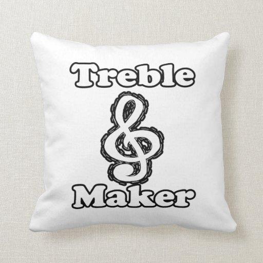 humor blanco de la música del esquema del negro de almohadas