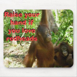 Humor bonito del primate del Redhead Tapete De Ratones