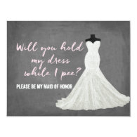 Humor Bride | Bridesmaid 4.25x5.5 Paper Invitation Card