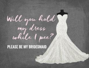 Humor Bride Bridesmaid Invitation