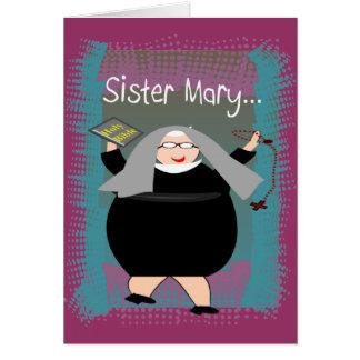 Humor católico de la monja de Cards~~Silly de la m Tarjeta De Felicitación