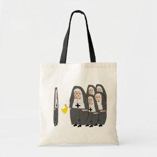 Humor católico hermanas gordas de la monja bolsa lienzo