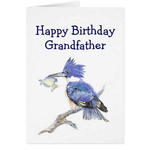 Humor de abuelo del cumpleaños de la pesca el mart tarjeton