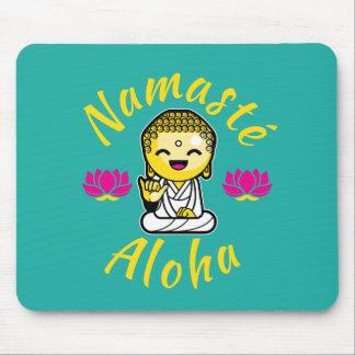 Humor de Buda de la muestra de la mano de la Alfombrilla De Ratones
