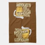 Humor de consumición de la cerveza divertida toallas