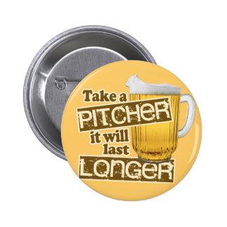 Humor de consumición de la cerveza divertida pin redondo de 2 pulgadas