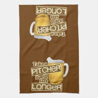 Humor de consumición de la cerveza divertida toallas de mano