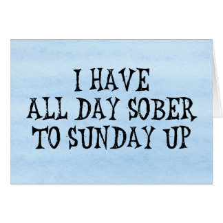 Humor de consumición del fin de semana tarjetas