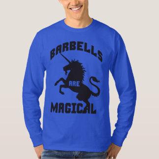 Humor de elevación del gimnasio del Barbell Playeras