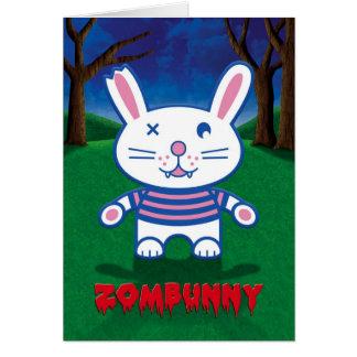 Humor de Halloween, conejo de conejito lindo del Tarjeta De Felicitación