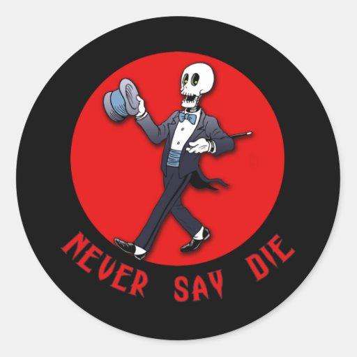¡Humor de Halloween! No hay que echar la soga tras Pegatina Redonda