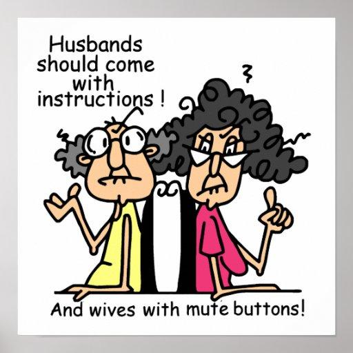 Humor de la actitud de los maridos y de las esposa impresiones