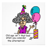 Humor de la alternativa del cumpleaños anuncios