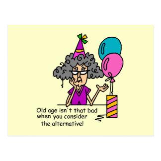 Humor de la alternativa del cumpleaños postales
