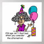 Humor de la alternativa del cumpleaños posters