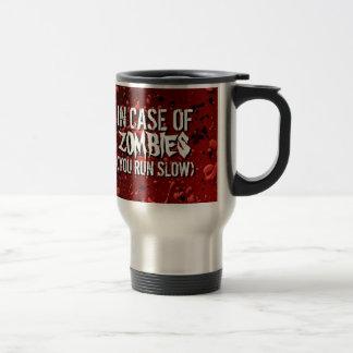 Humor de la apocalipsis de los zombis le necesito tazas de café