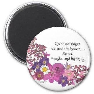 Humor de la boda imán redondo 5 cm