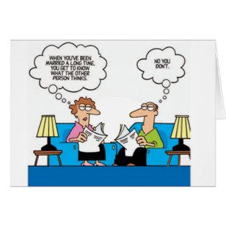 Humor de la boda tarjeta de felicitación