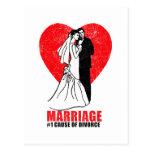 Humor de la boda tarjetas postales