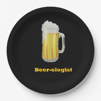 humor de la cerveza plato de papel de 9 pulgadas