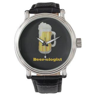 humor de la cerveza relojes