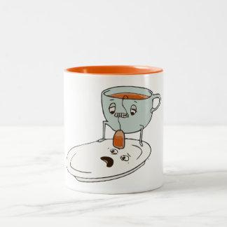 Humor de la cocina de la taza y de la placa del Ba