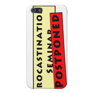 Humor de la dilación para los Procrastinators iPhone 5 Carcasa