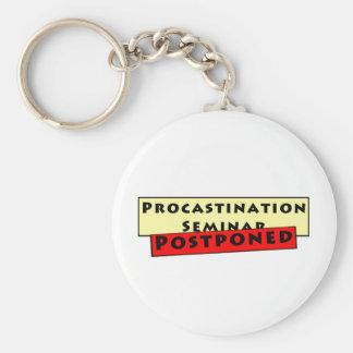 Humor de la dilación para los Procrastinators Llavero Redondo Tipo Pin
