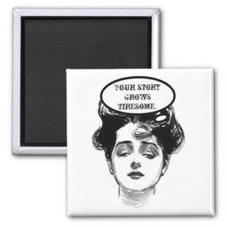 Humor de la diva del Victorian Imán Cuadrado