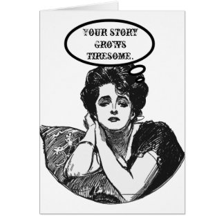 Humor de la diva del Victorian Tarjeta De Felicitación