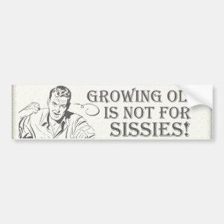 Humor de la edad avanzada pegatina de parachoque