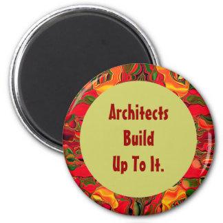Humor de la estructura de los arquitectos imán redondo 5 cm