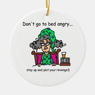 Humor de la hora de acostarse ornamento de navidad