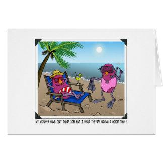 Humor de la insuficiencia renal tarjeta de felicitación