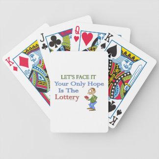 Humor de la lotería barajas de cartas