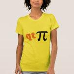 Humor de la matemáticas - camiseta linda pi