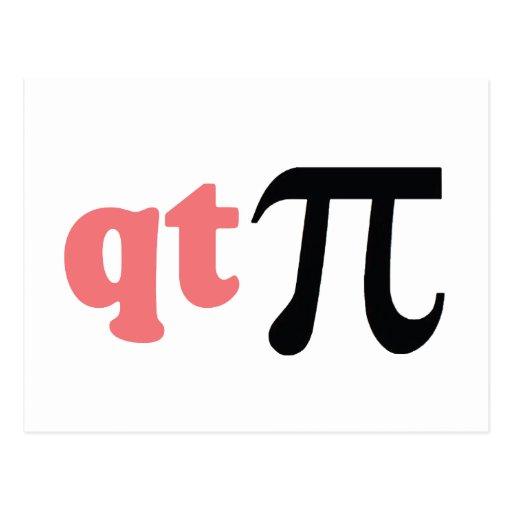 Humor de la matemáticas - camiseta linda pi tarjetas postales