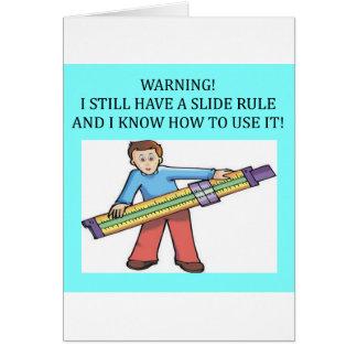 humor de la matemáticas de la regla de diapositiva tarjeton